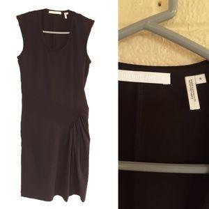 Helmut Lang Pleated Jersey Dress Black Small
